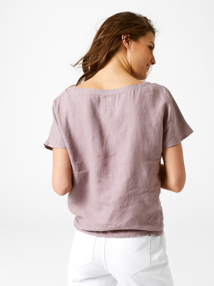 Canvas Tie Linen Top