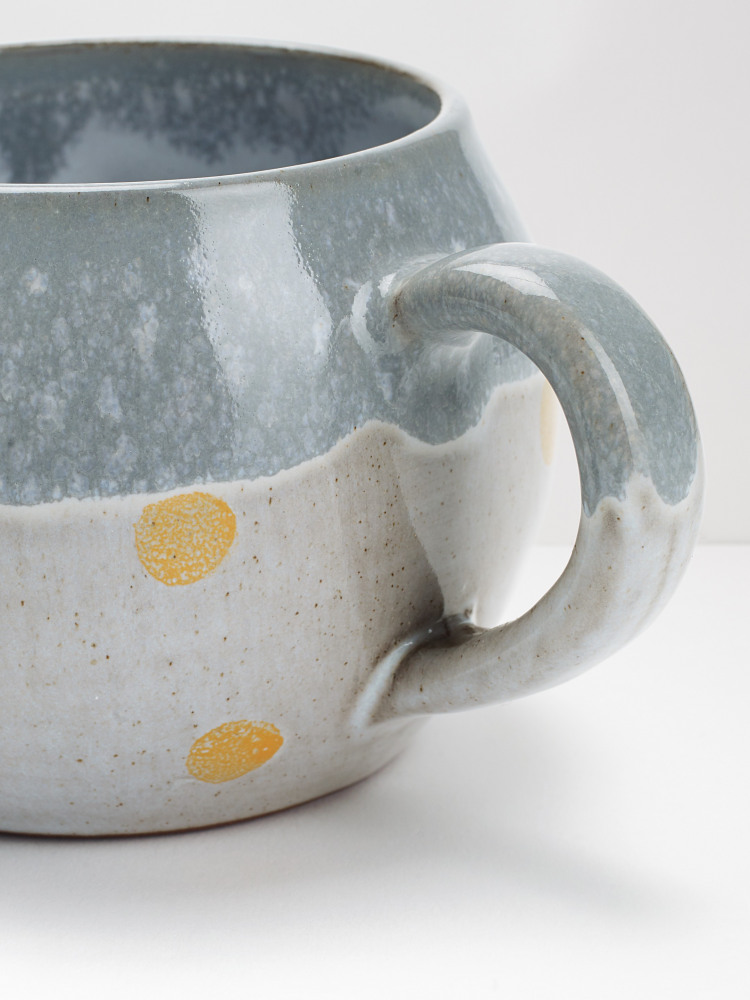 Yellow Spot Terracotta Mug