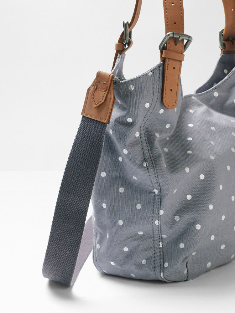 Bailey Polka Canvas Hobo
