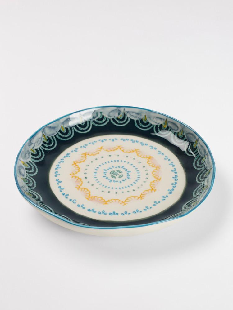 Grey Scallop Decorative Plate