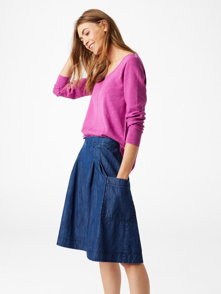 342c28a20f Charlie Denim Skirt (Denim) | White Stuff