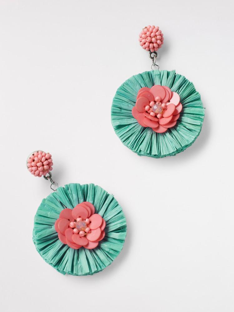 Raffia Flower Earring