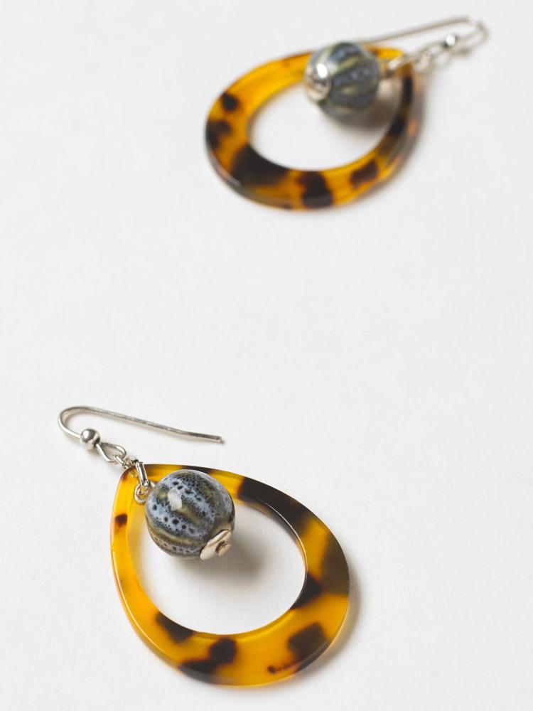 Tortoise Shell Earring