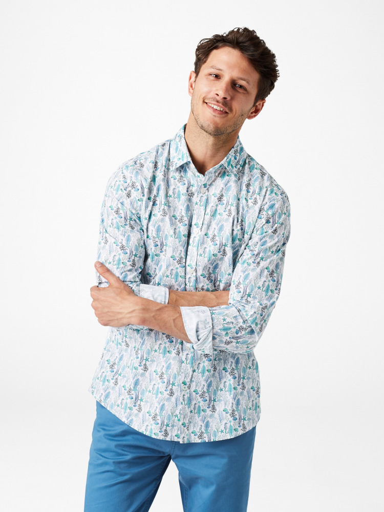 Aquatic Print Shirt
