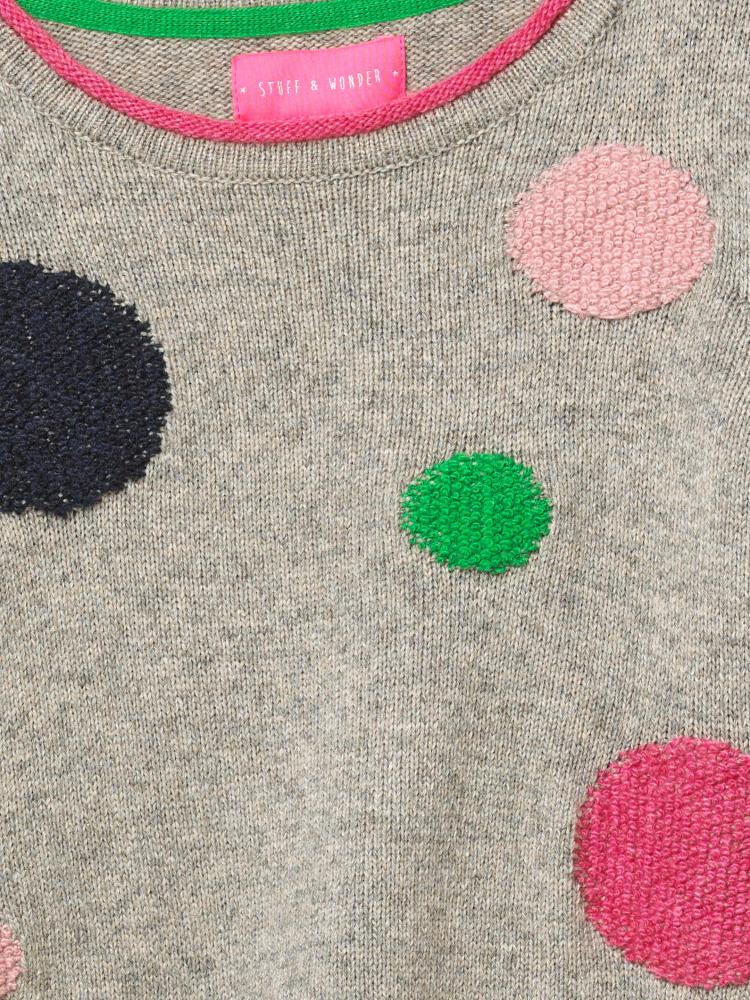 Silvie Spot Knitted Dress