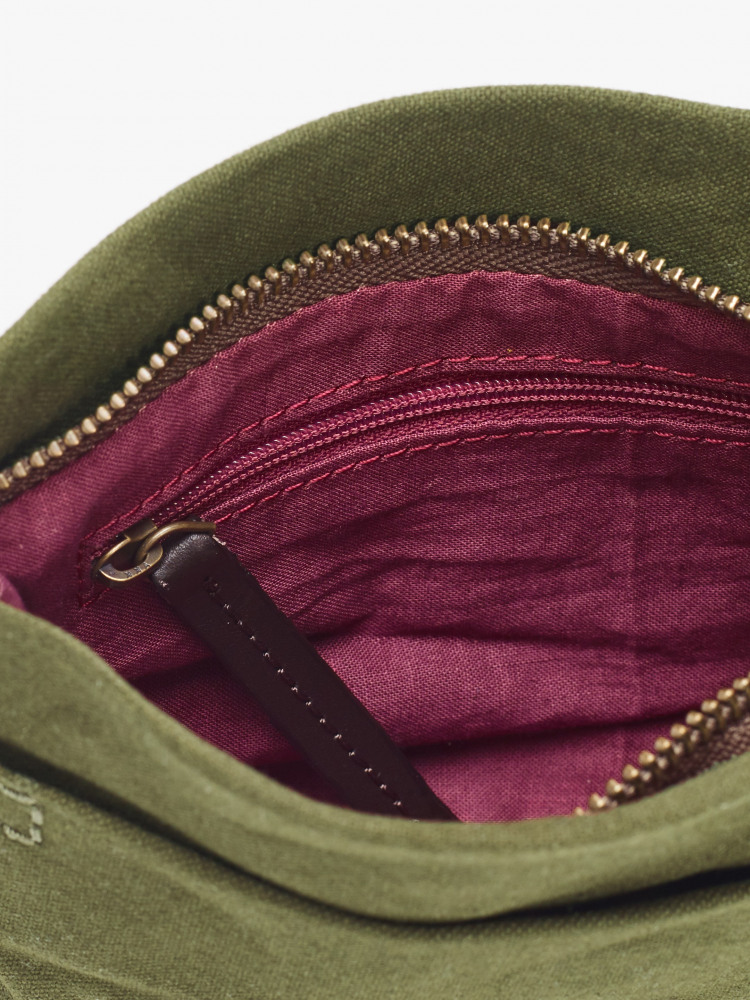 Issy Waxed Canvas Belt Bag