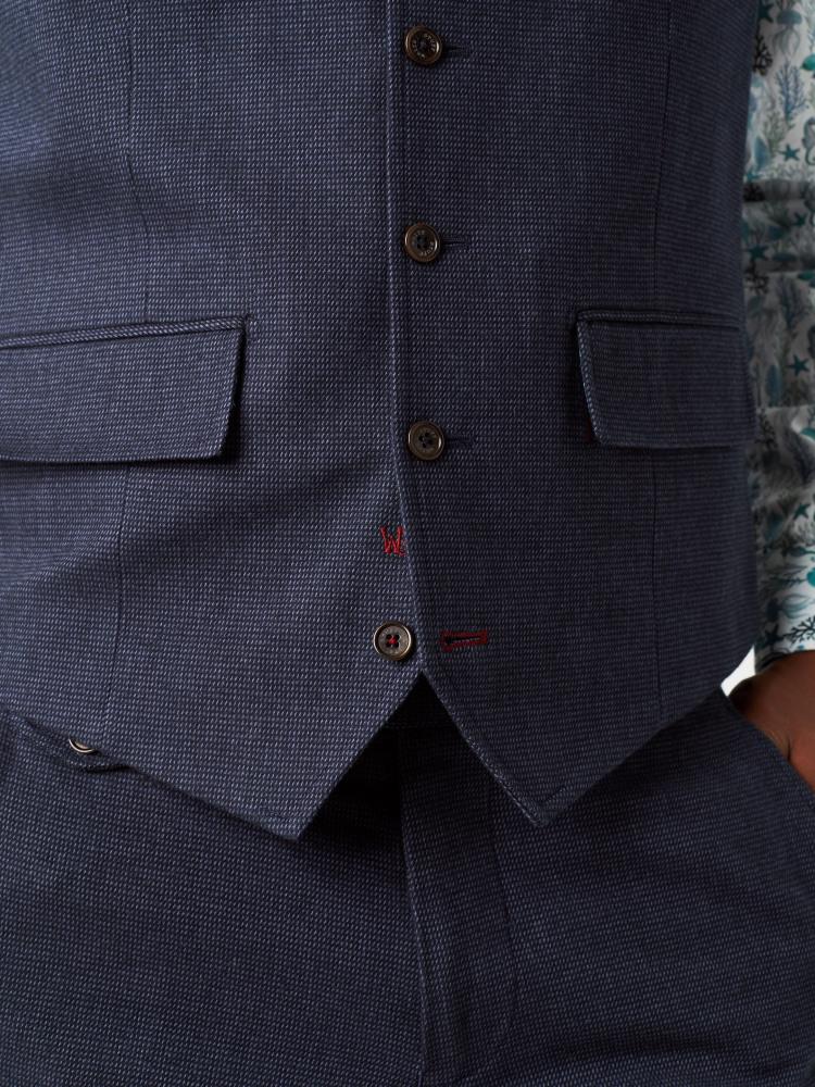 Davide Semi-plain Waistcoat
