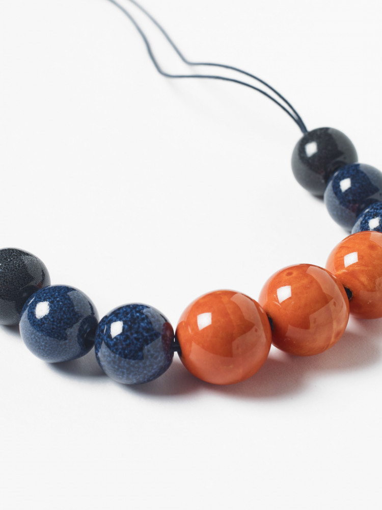 Ceramic & Cord Necklace