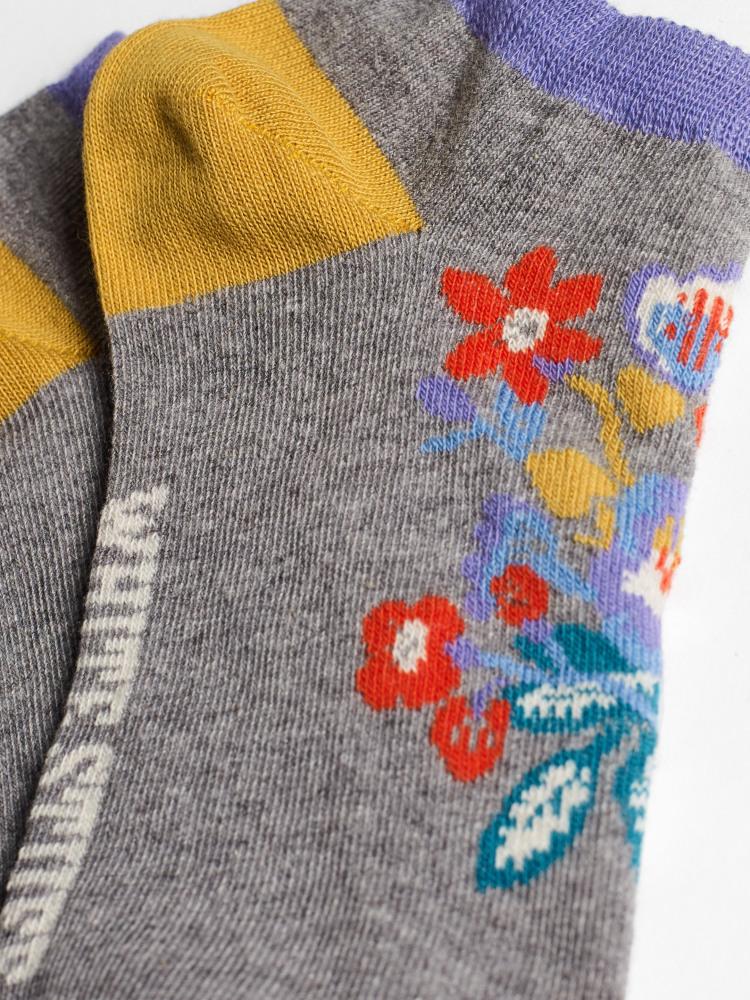 Pop Floral Trainer Sock 2 Pack