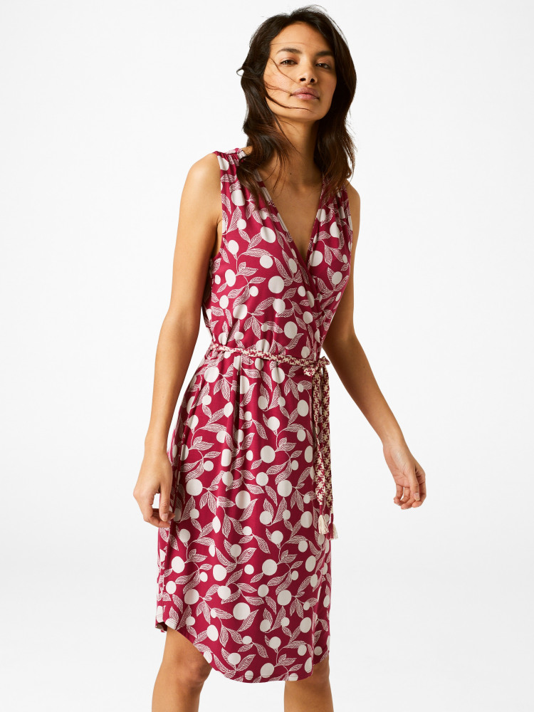 b358934ea300 Short Avery Wrap Dress (Pink)   White Stuff