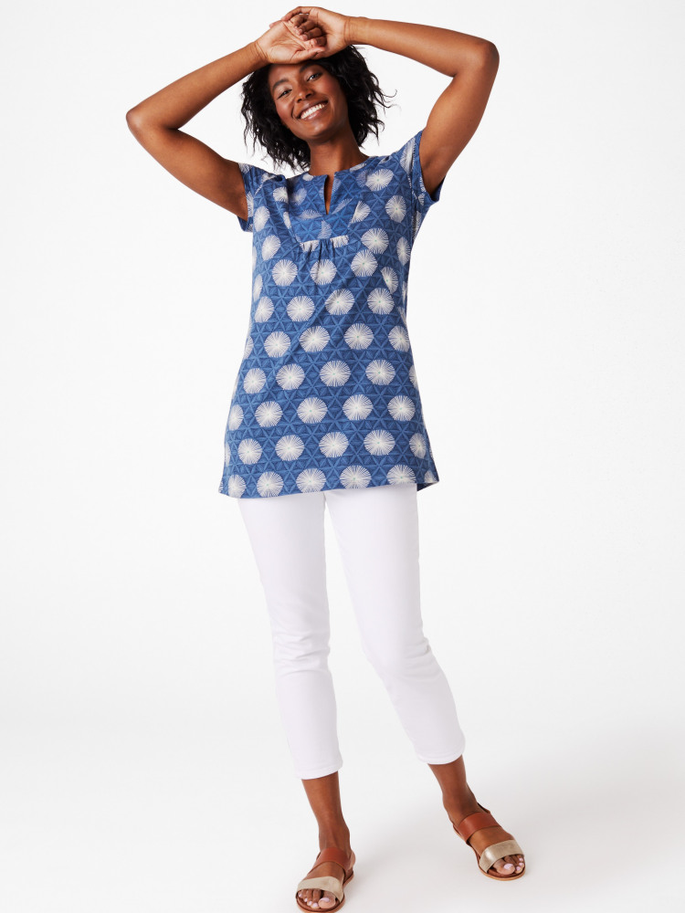 Short Sleeve Forest Fern Jersey Tunic