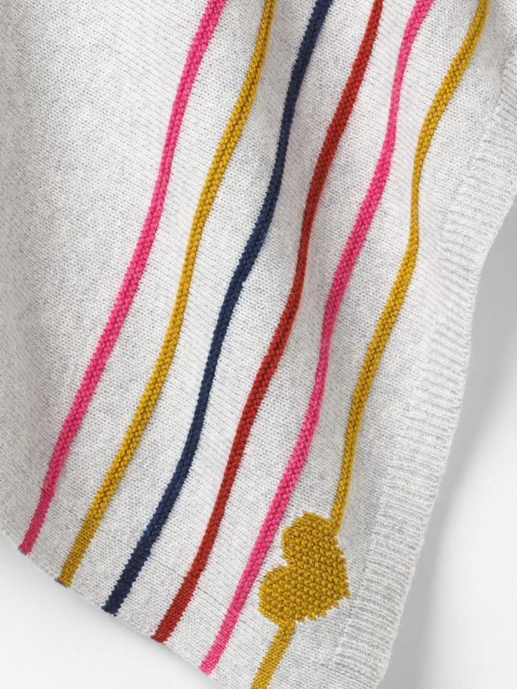 Heart & Stripe Poncho