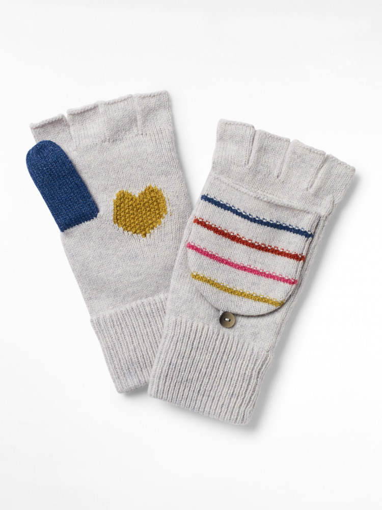 Heart & Stripe Flip Mitt