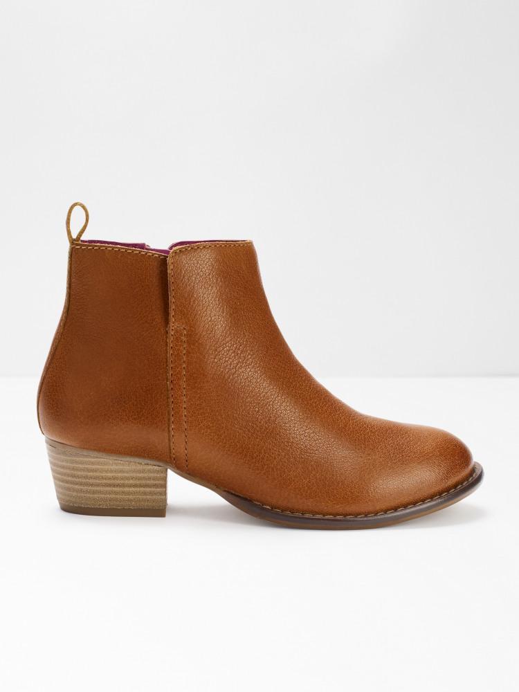 Eliza Ankle Cuban Heel Boots