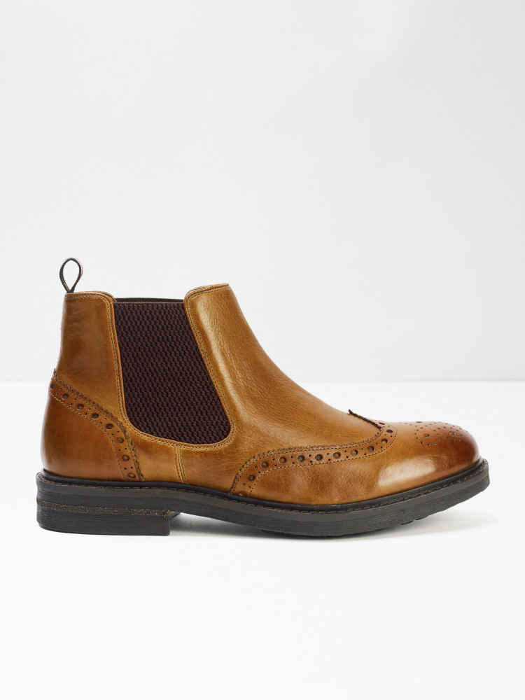 Carter Brogue Chelsea Boots