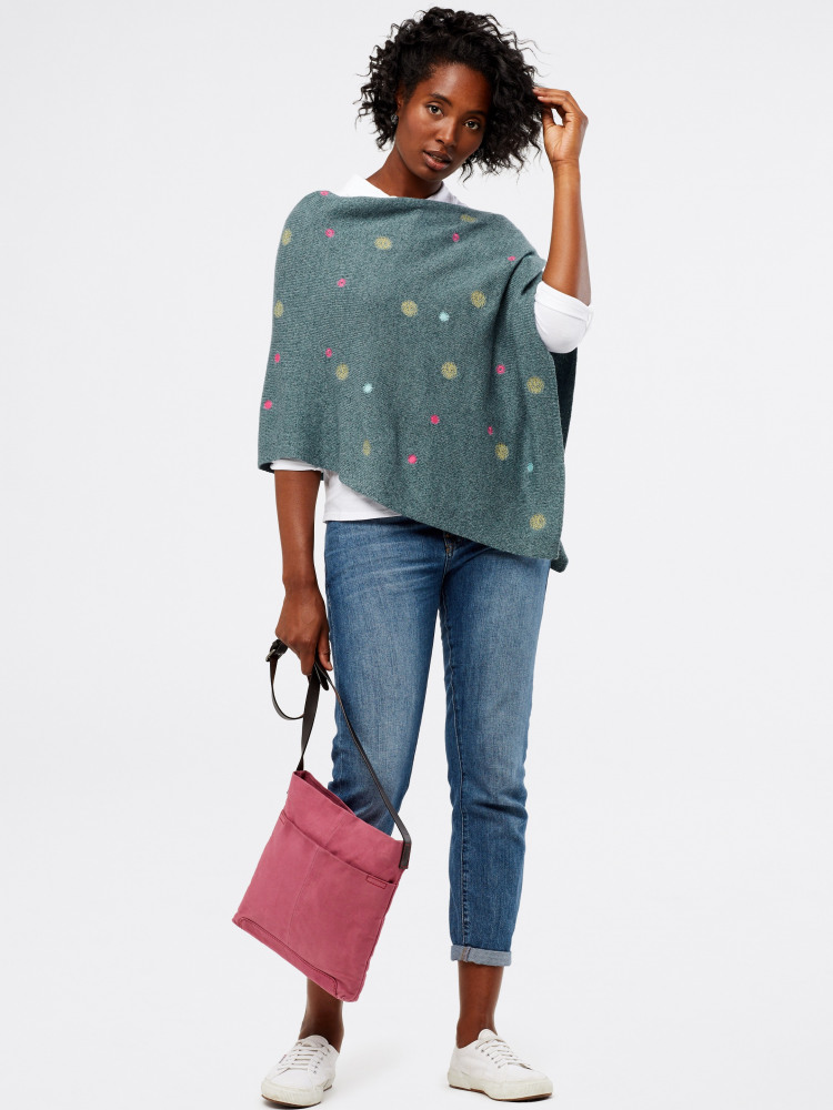 Layla Embroidered Poncho