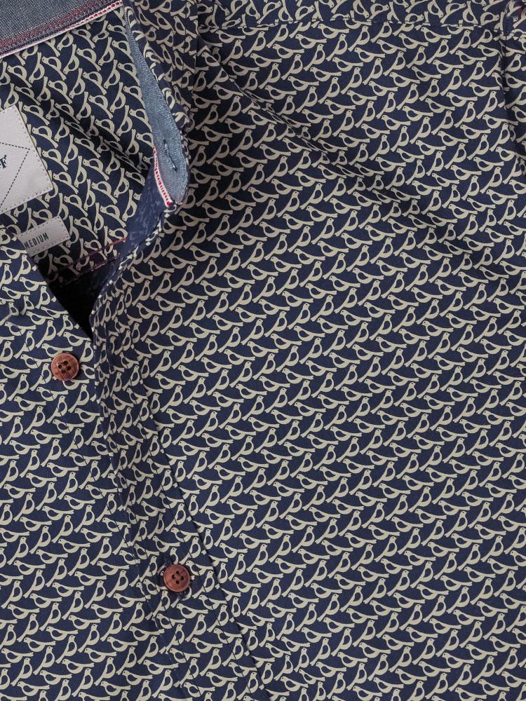 Ardingly Bird Print Shirt