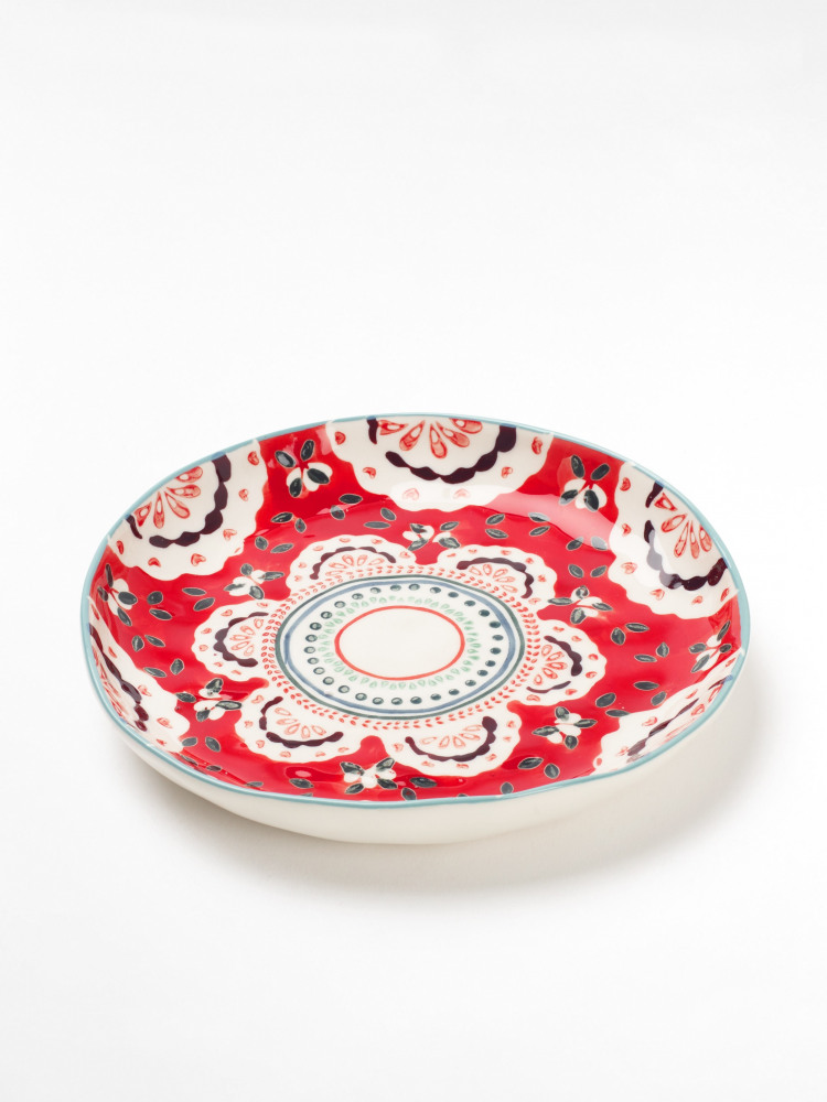 Red Doily Decorative Plate