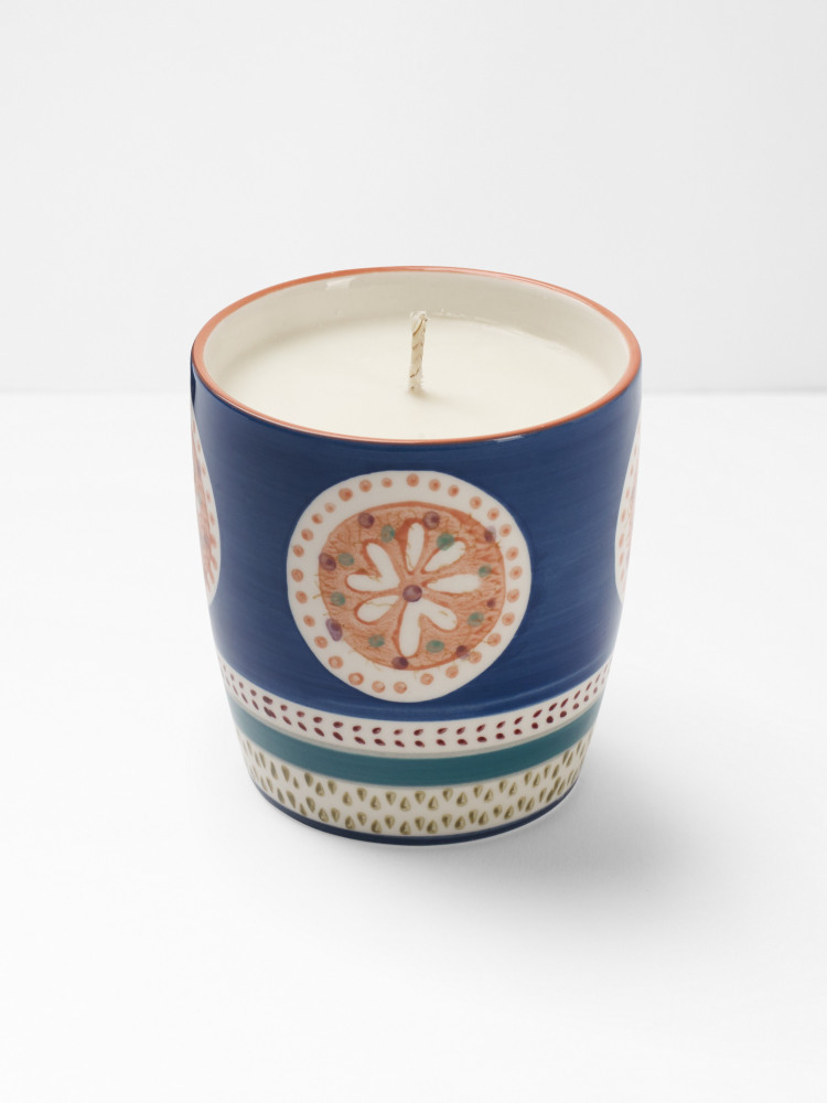 Stamped Flower Candle