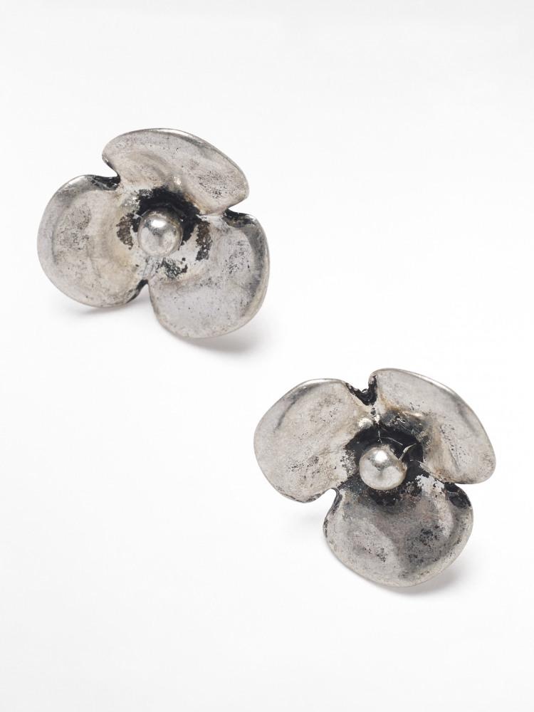 Metal Flower Stud Earrings