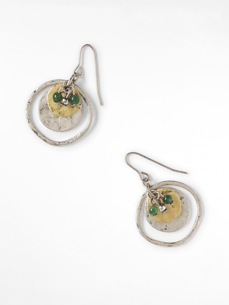 Semi Precious Cluster Earring