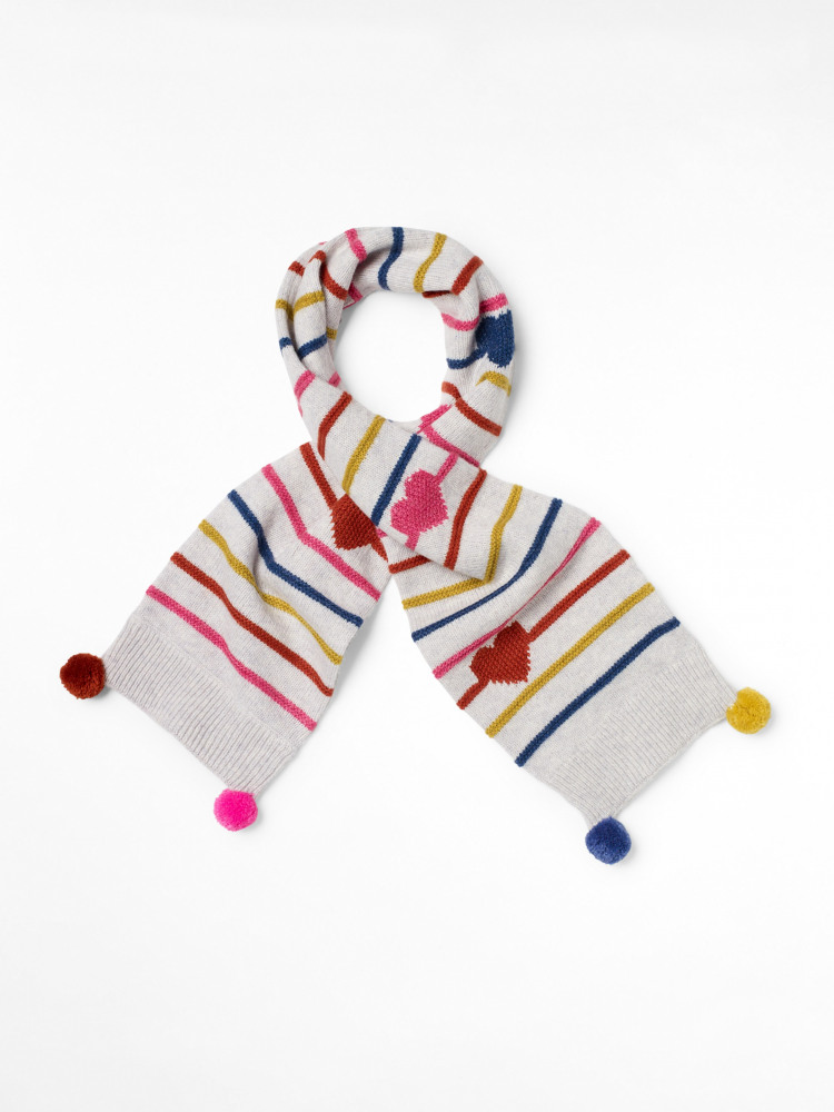 Kids Hearts & Stripes Scarf