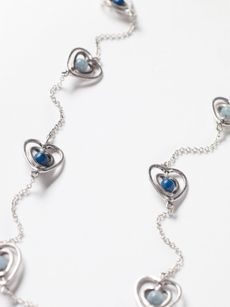 Semi Precious Heart Necklace