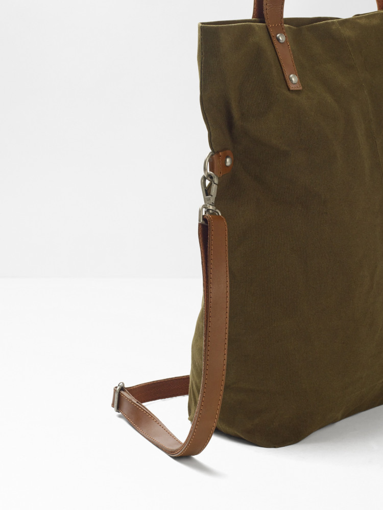 Issy Waxed Cotton Canvas Tote