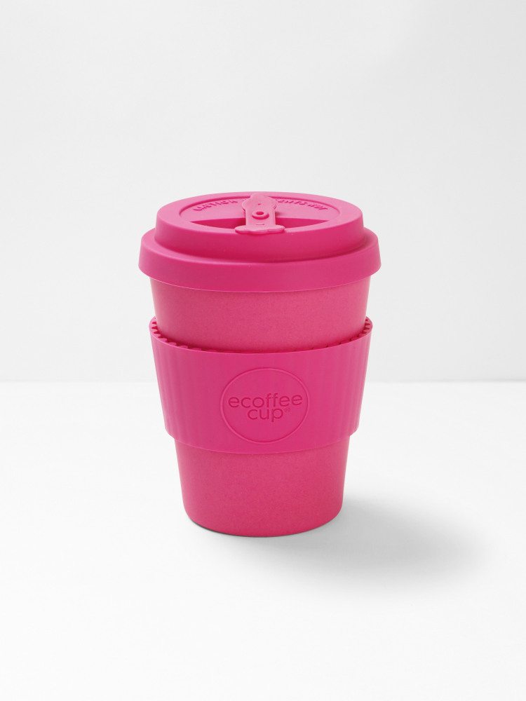 Pink Plain 12oz ECoffee Cup