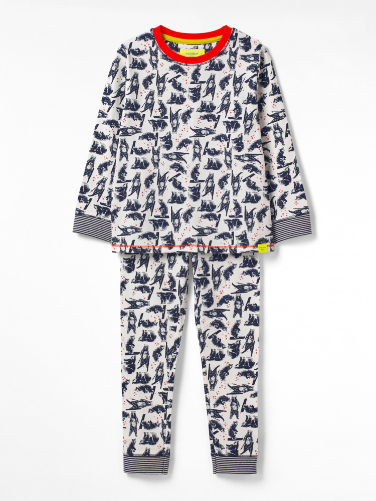 Hairy Bear Jersey Pj Set