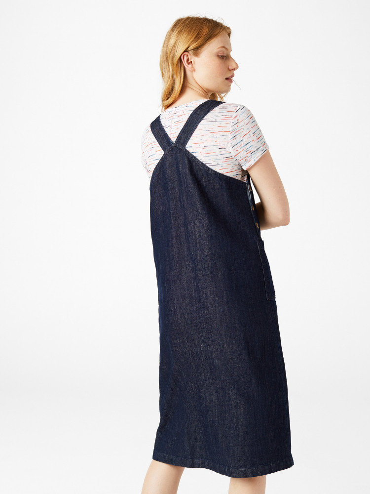 Time Flies Denim Pinny