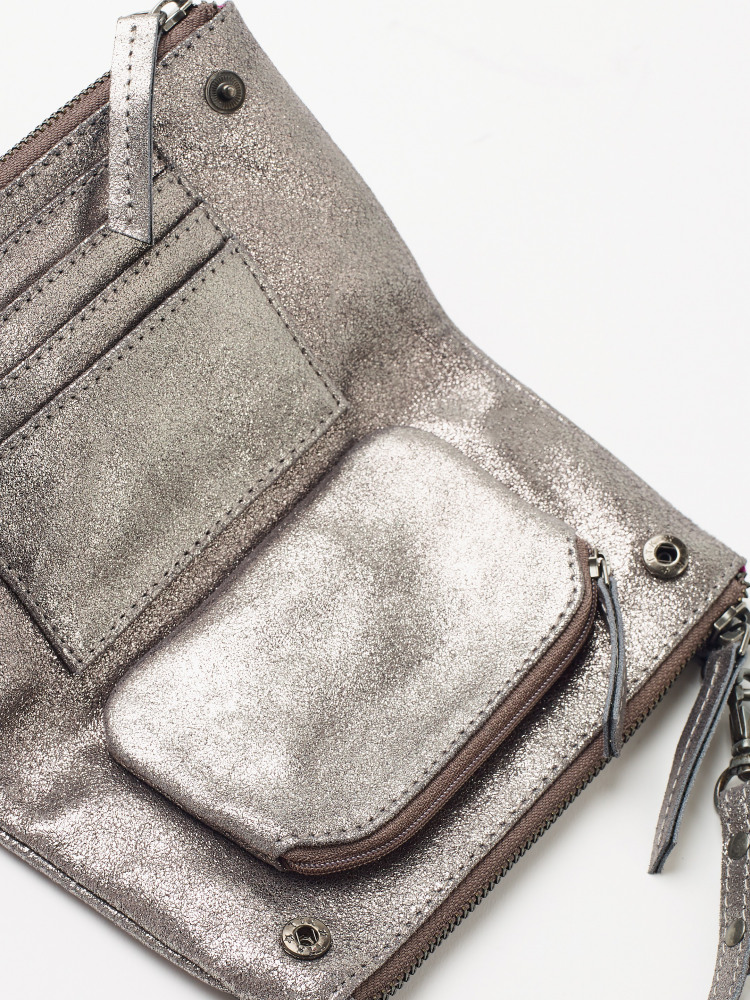 Metallic Pouch On a String