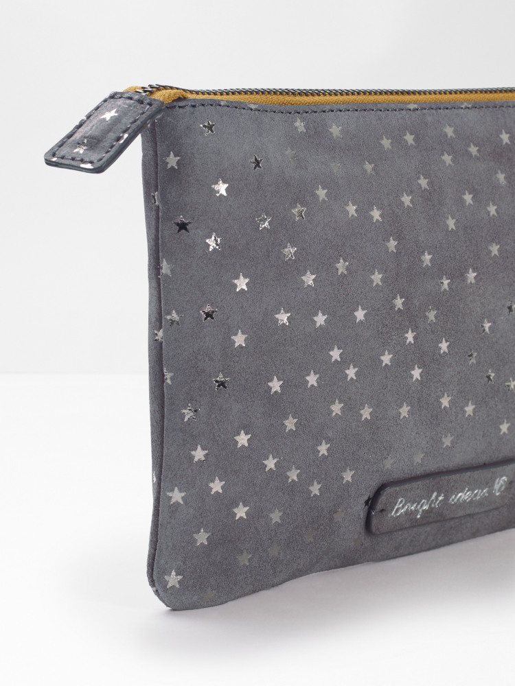 Star Suede Pouch