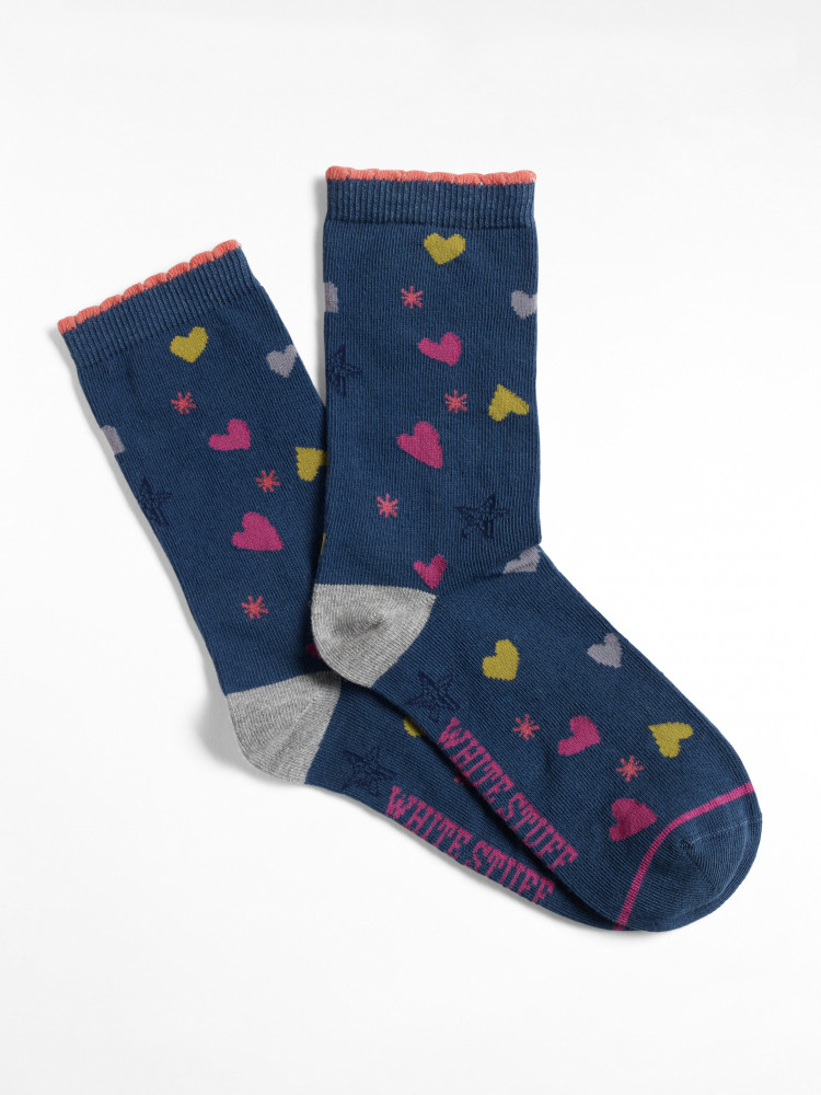 Starry Hearts Sock