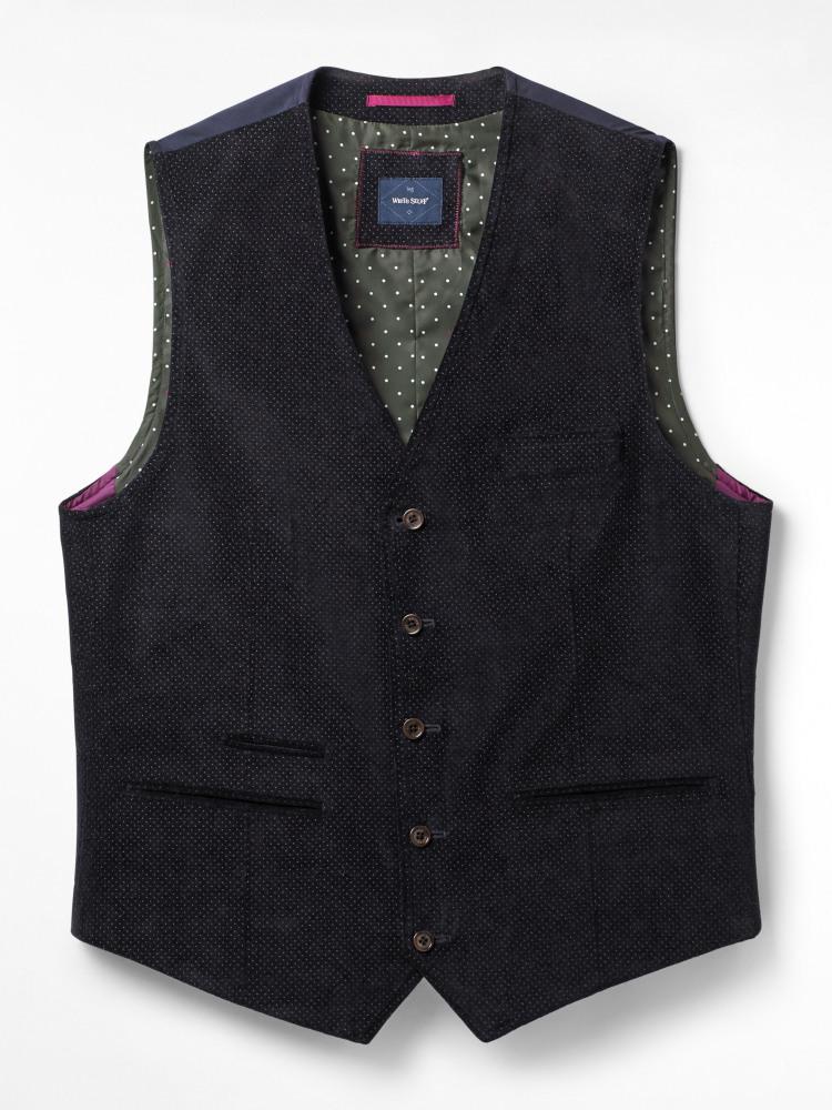 Melbury Velvet Dot Waistcoat