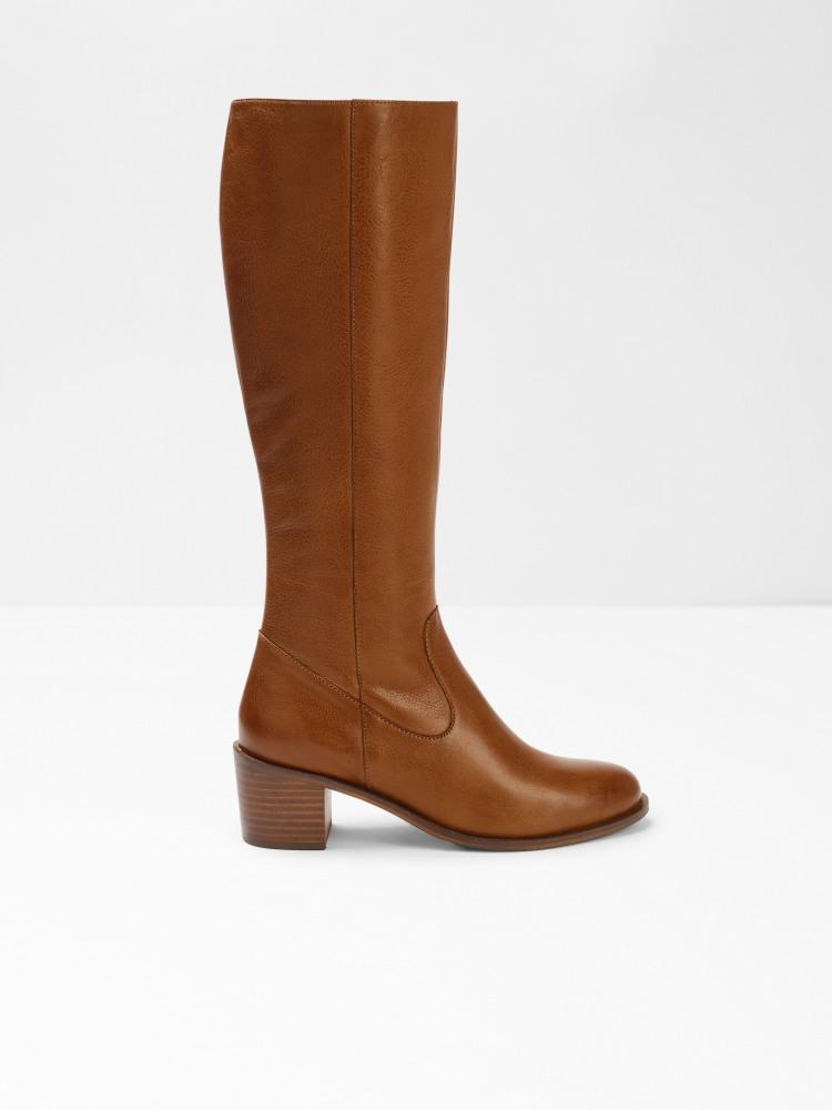 Jenine Long Block Heel Boot
