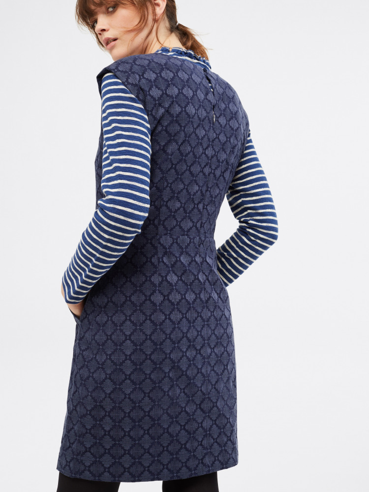 Embroidered Cord Pinny Dress