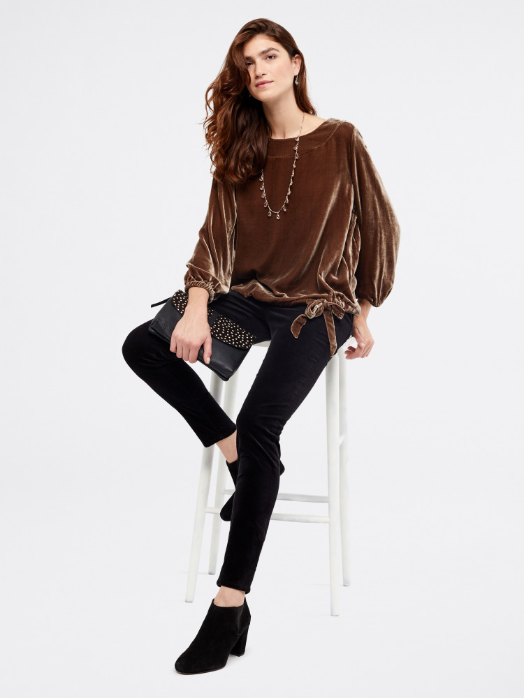 Larna Silk Velvet Top