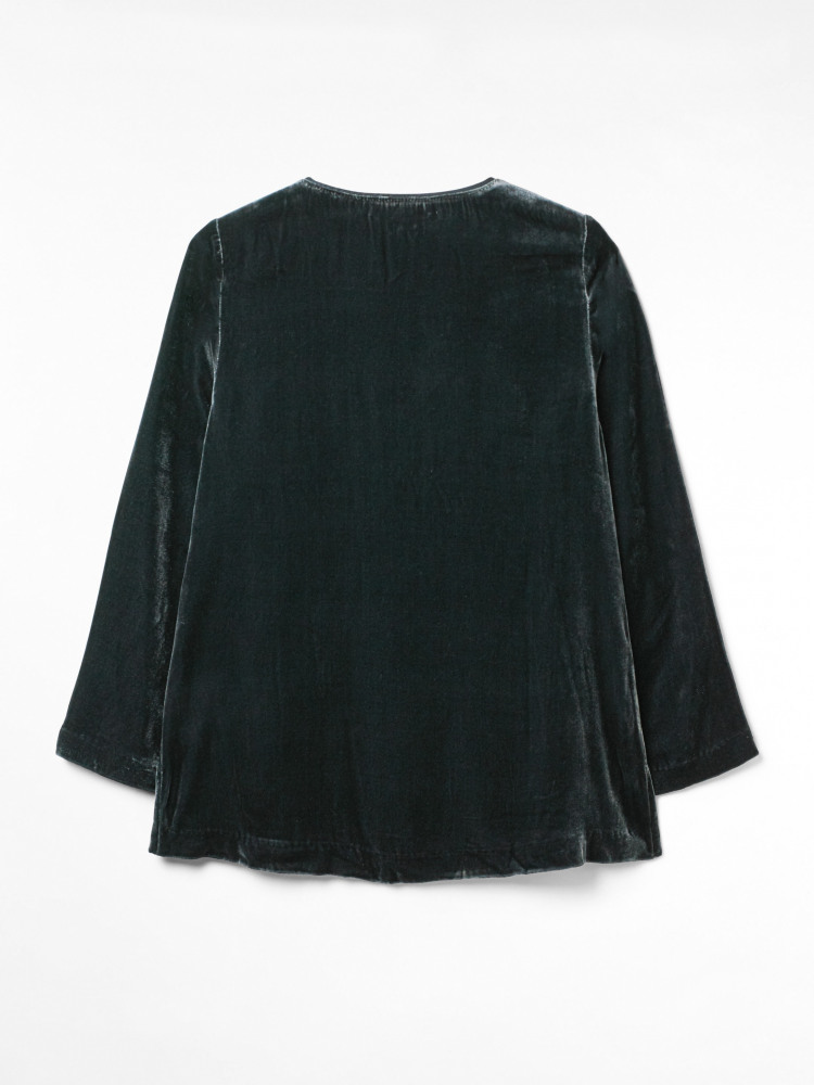Daphne Silk Velvet Top