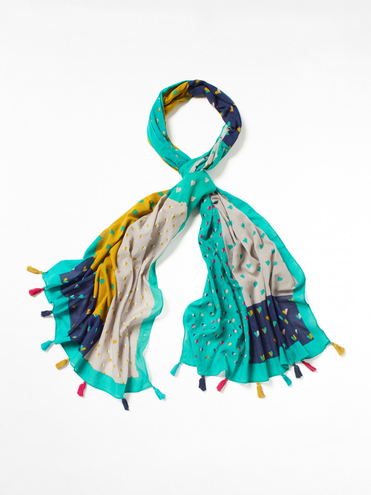 Heart Organic Cotton Scarf