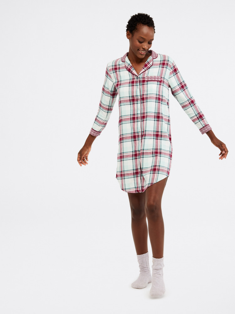 Midnight Check Woven Nightie