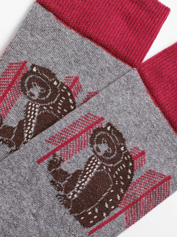 Mountain Bear Sock