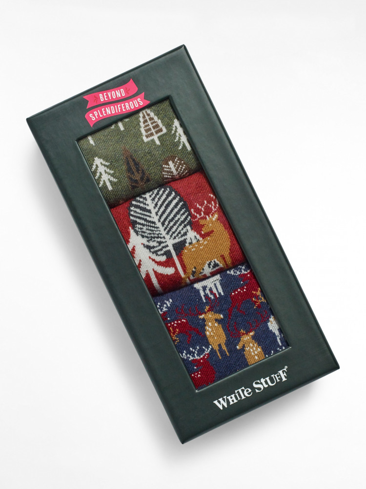 Winter Forest Socks In a Box