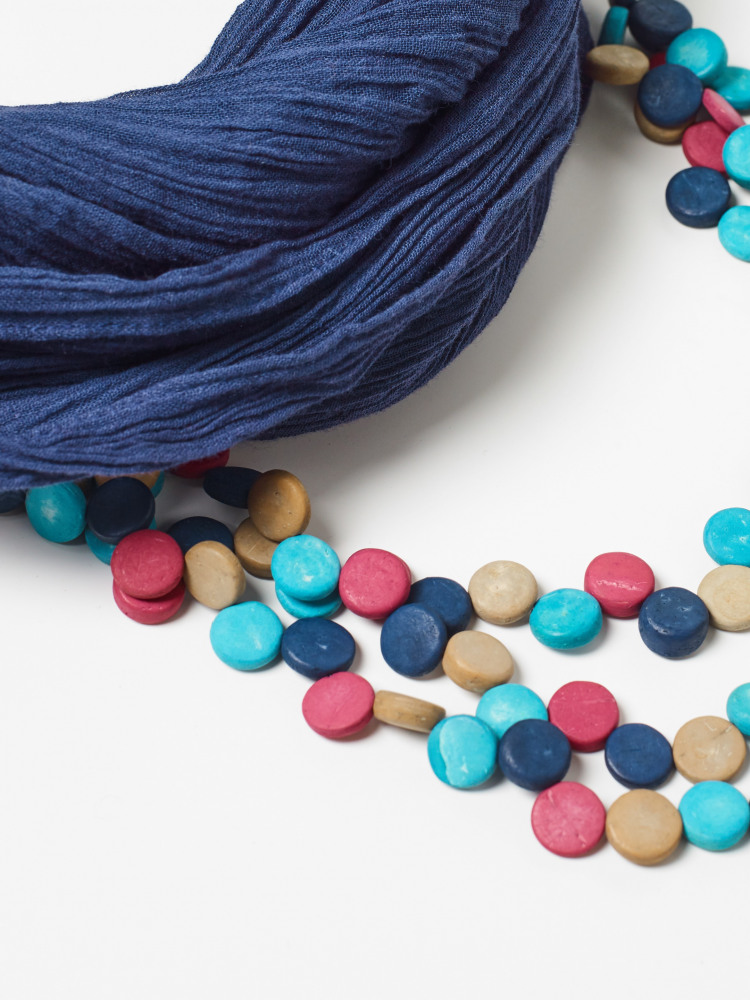 Multi Monobead Scarf Necklace