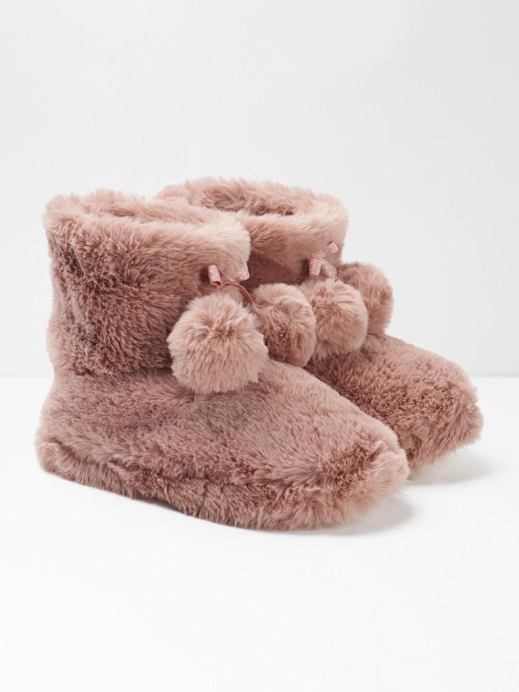 Faux Fur Slipper Bootie