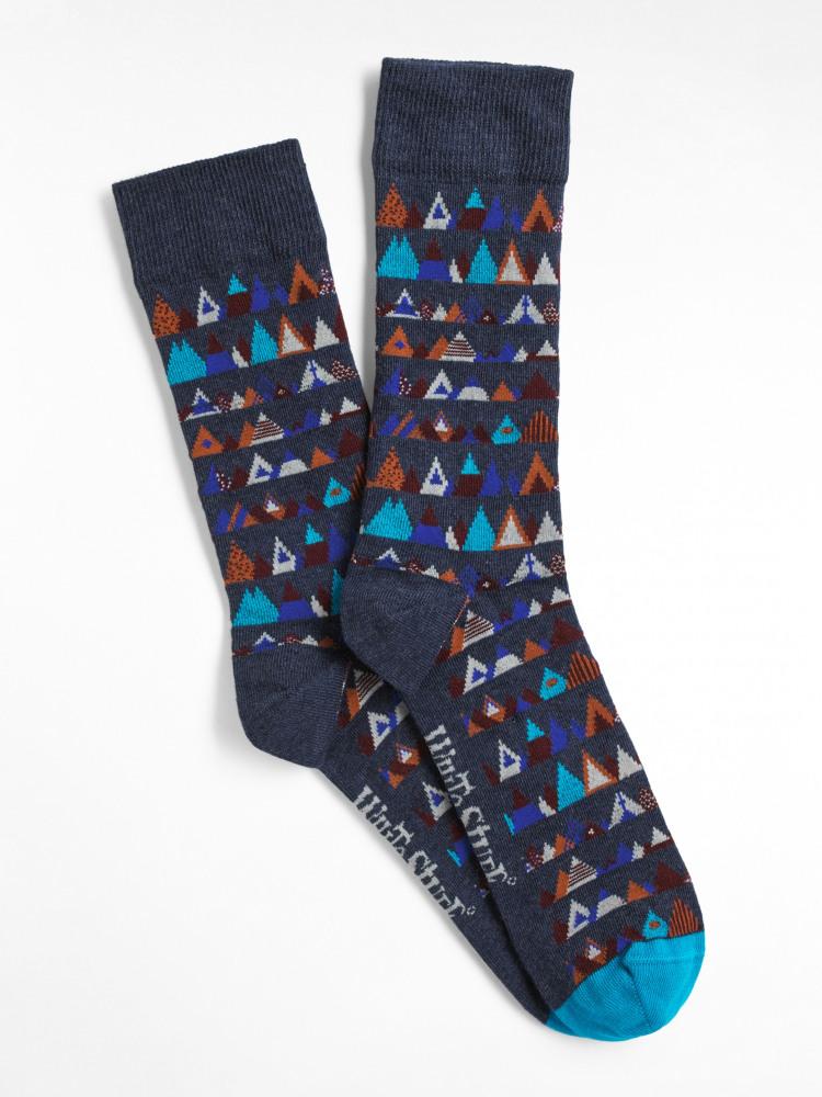 Geo Mountains Sock