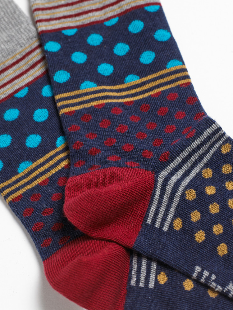 Peter Patchwork Spot Sock