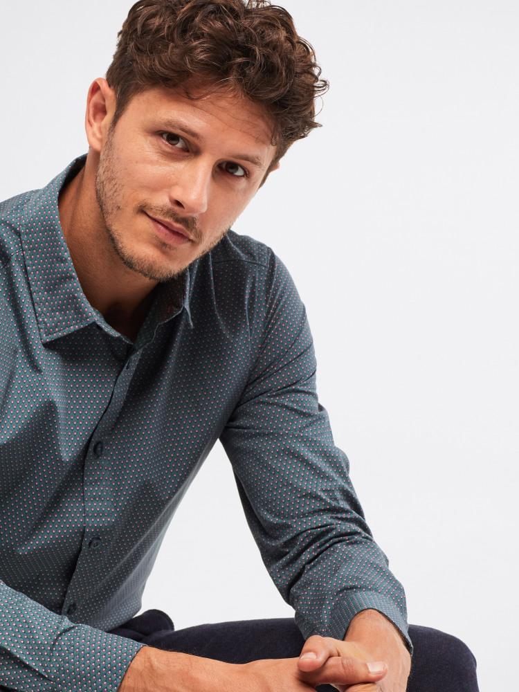 Droplet Geo Print Shirt