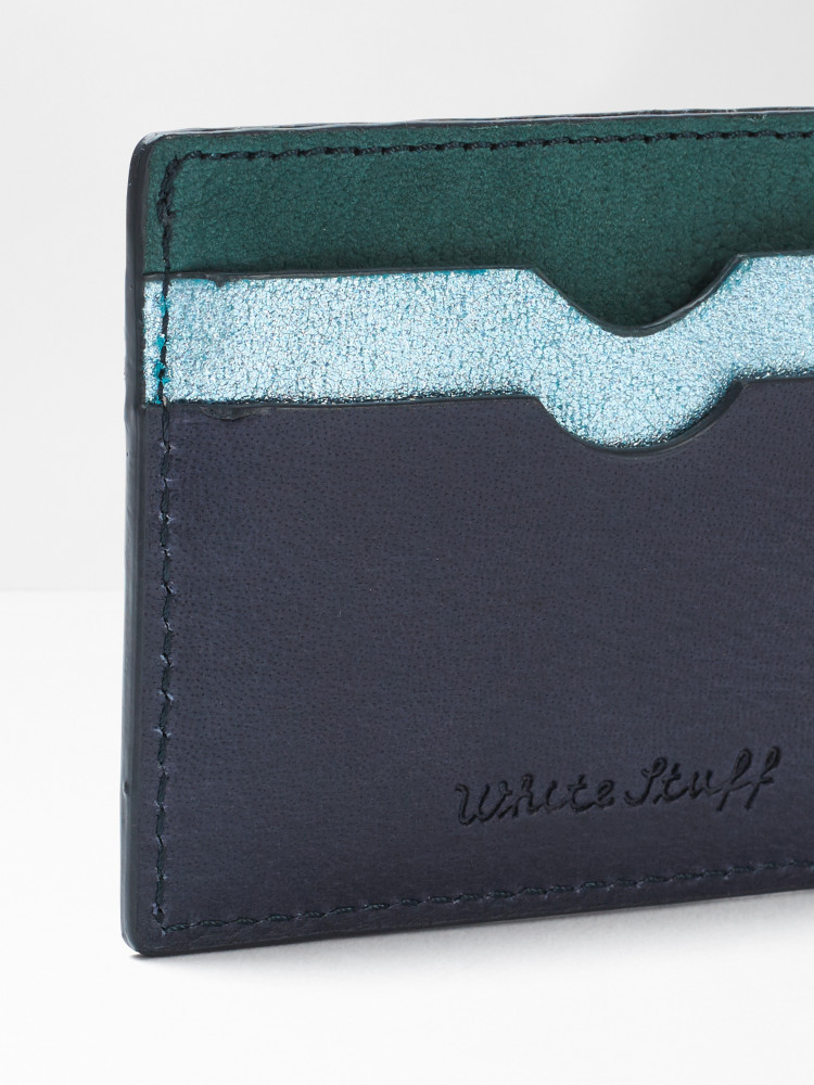 Leather Metallic Cardholder