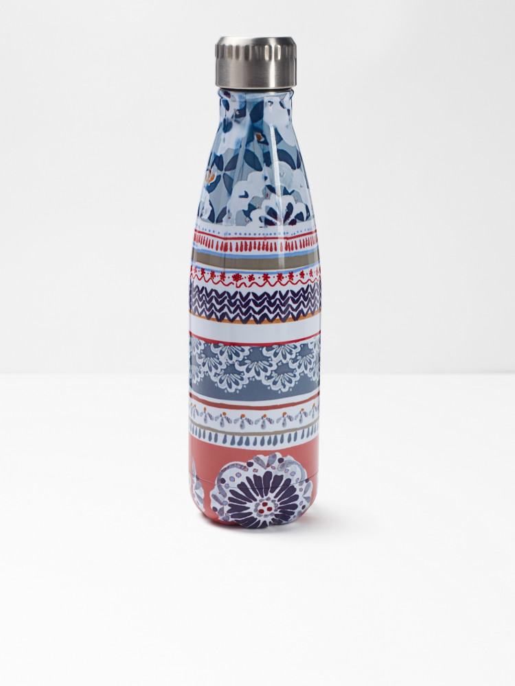Teal Doily Water Bottle